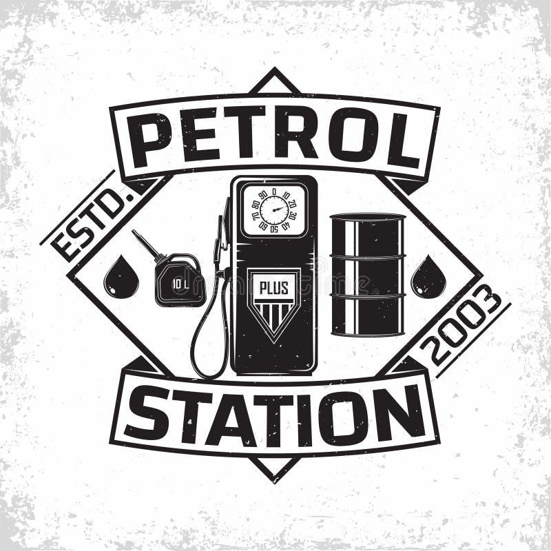 vintage filling station emblem design royalty free illustration