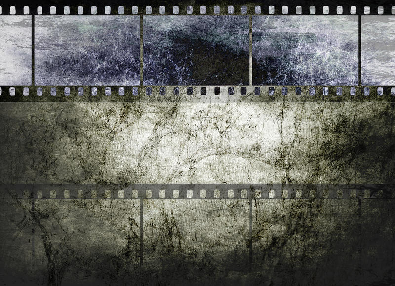 Vintage film art on dark textured background royalty free illustration