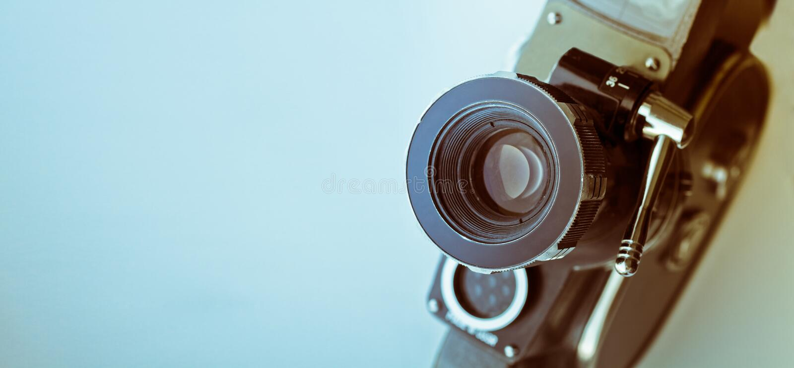 Vintage Film Camera. With Copyspace stock photo
