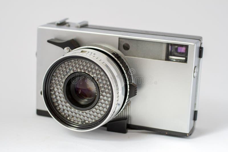 Vintage film camera isolated on white background.  stock image