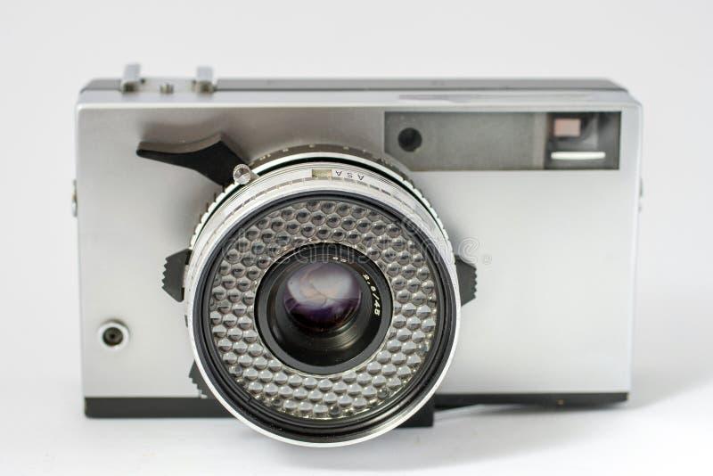 Vintage film camera isolated on white background.  royalty free stock photos