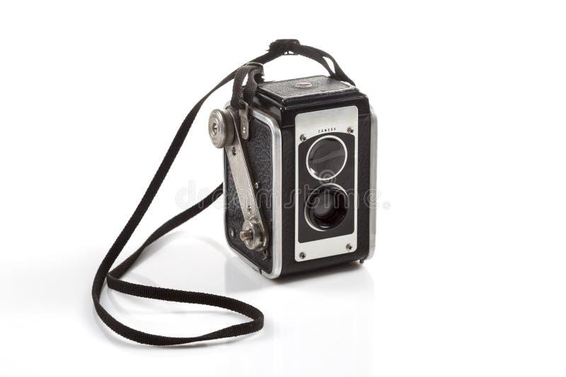 1930 Vintage film camera. On white background stock image