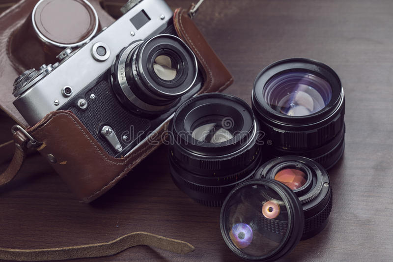 Download Vintage Film Camera stock photo. Image of additionally - 83701354