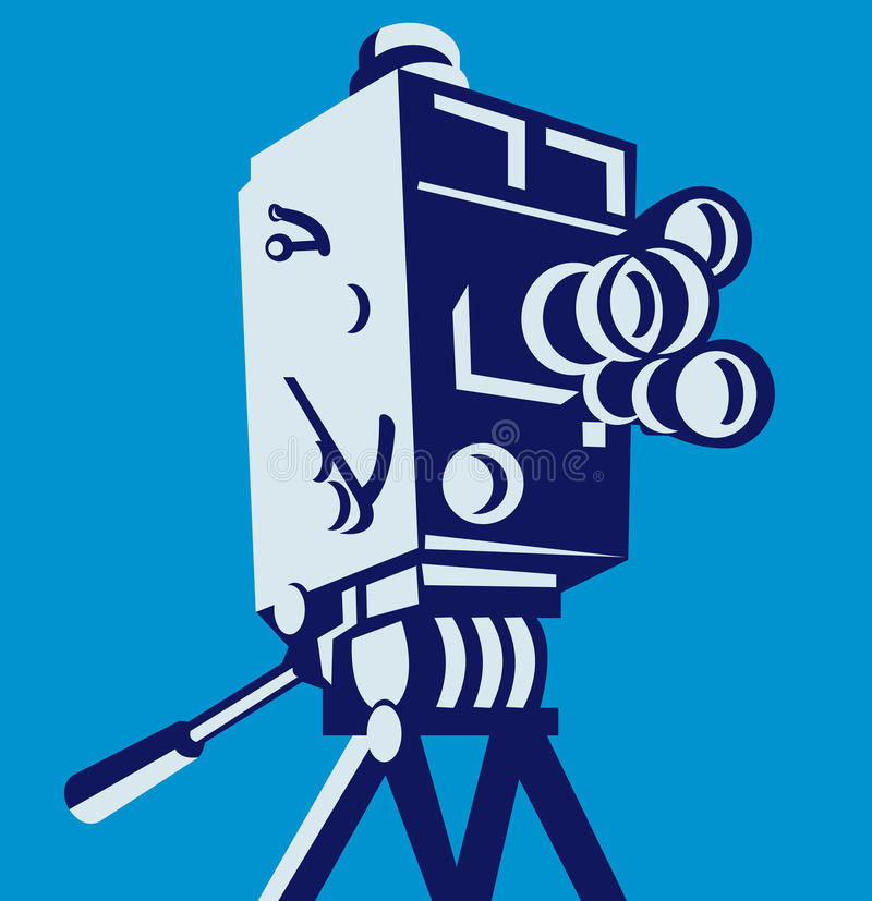 Download Vintage Film Movie Camera Retro Stock Illustration - Illustration: 25415625