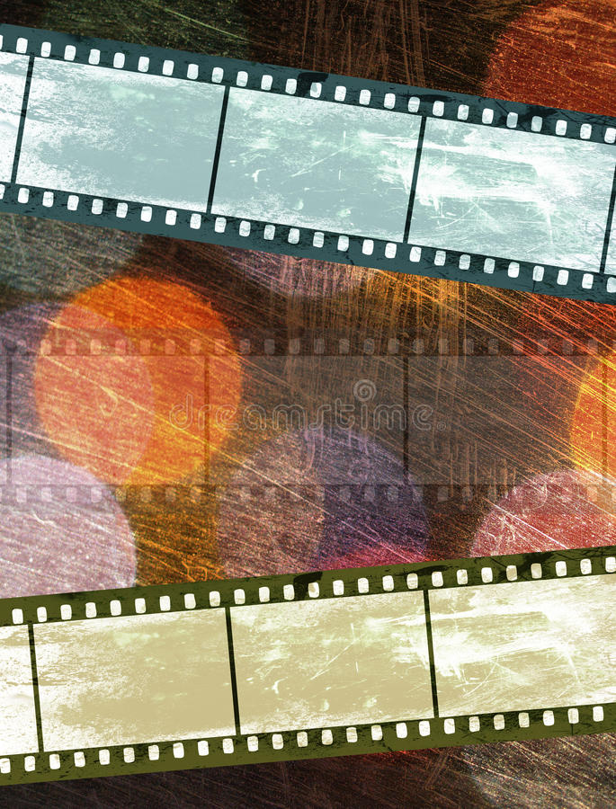 Vintage film negative on colorful texture royalty free stock photos