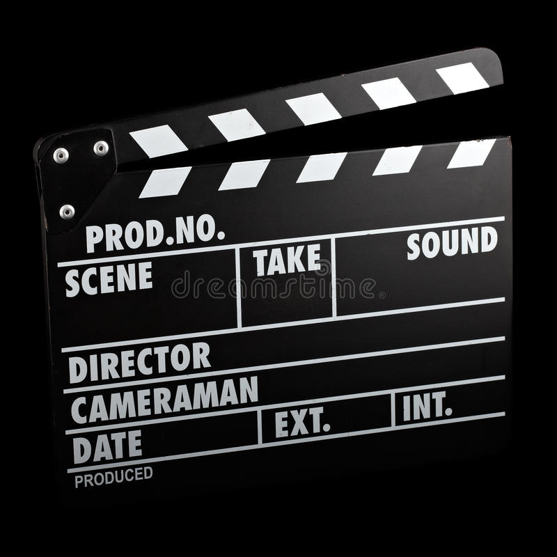 Vintage film slate royalty free stock image
