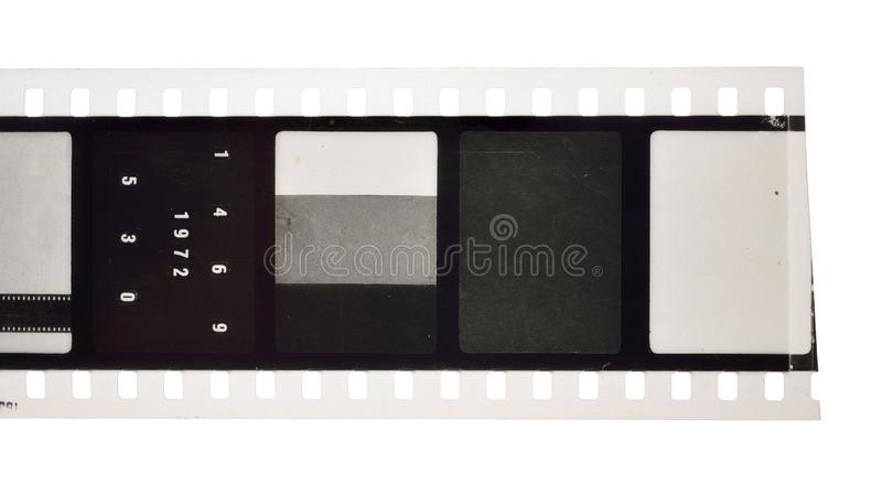 Vintage Film stock For still photography or motion picture. Isolated.  royalty free stock images