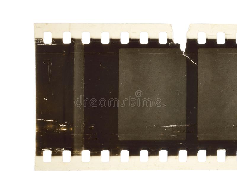 Vintage Film stock For still photography or motion picture. Isolated.  royalty free stock photos