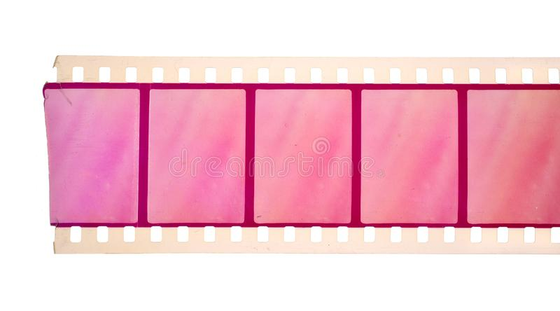 Vintage Film stock For still photography or motion picture. Isolated.  stock images