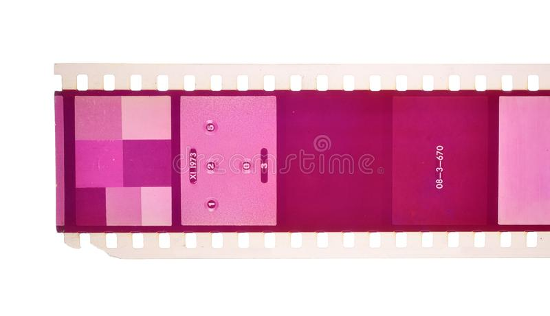 Vintage Film stock For still photography or motion picture. Isolated.  royalty free stock photo