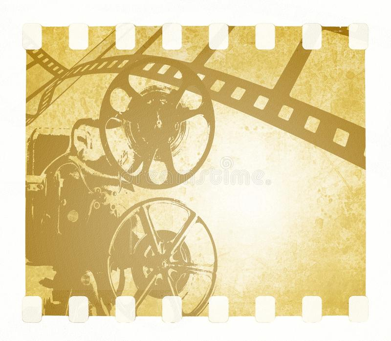 Download Vintage Film Strip Background And Old Projector Stock Photo