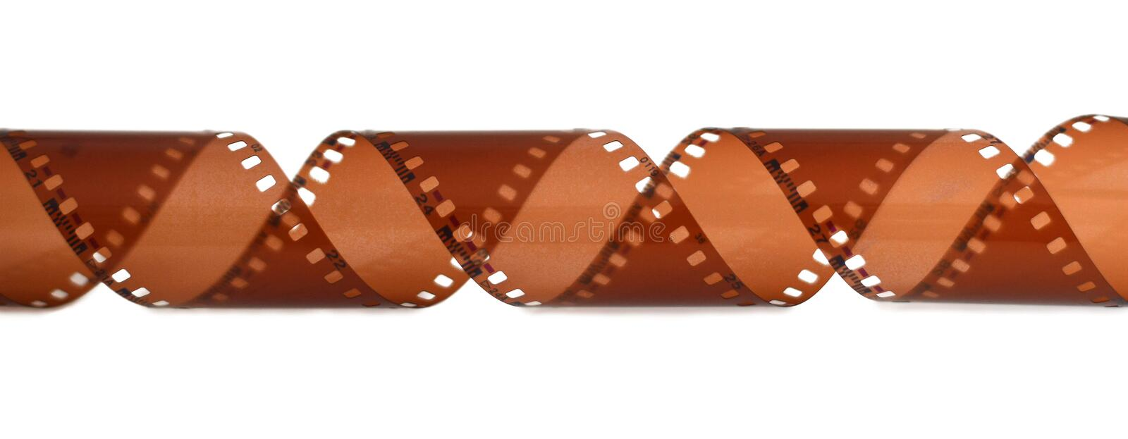 Filmstrip isolated on white background. Vintage filmstrip isolated on white background stock image