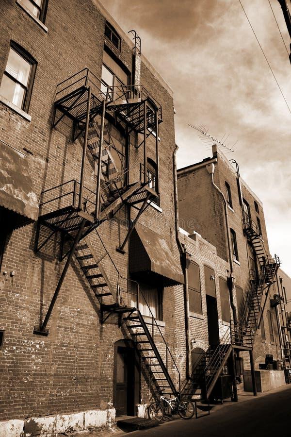 Free Vintage Fire Escape On Brick Building Stock Image - 5919601