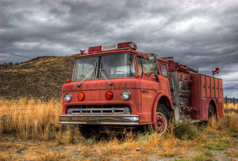 Vintage fire truck stock photos