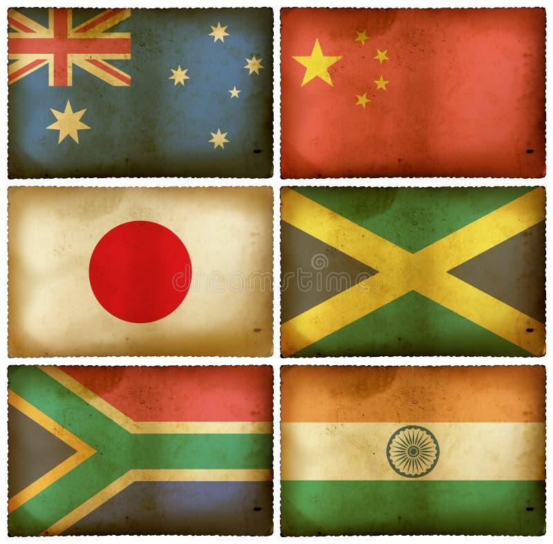 Download Vintage flags set mix stock illustration. Image of decorative - 17228888