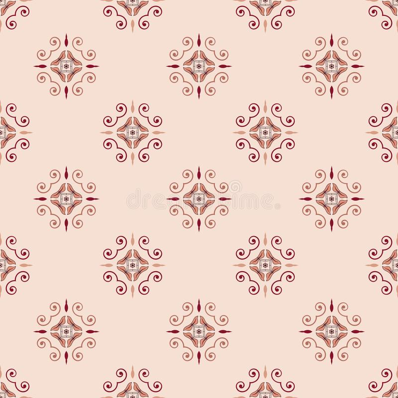 Vintage floral abstract geometrical seamless pattern vector stock illustration