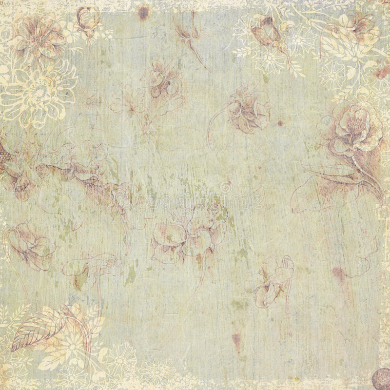 Free Vintage Floral Antique Background Theme Stock Photography - 7291572