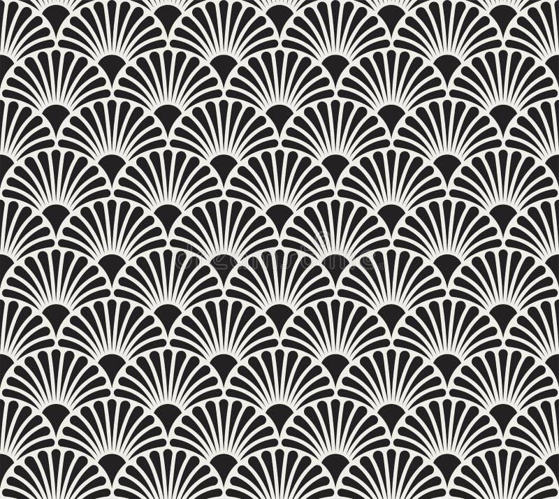 Vintage Floral Art Deco Seamless Pattern. Geometric decorative texture. stock illustration