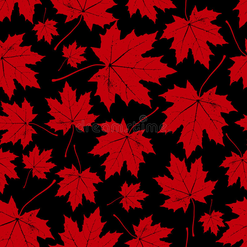 Vintage floral autumn (fall) seamless pattern with maple leaves. Vintage floral autumn (fall) seamless vector pattern with maple leaves stock illustration
