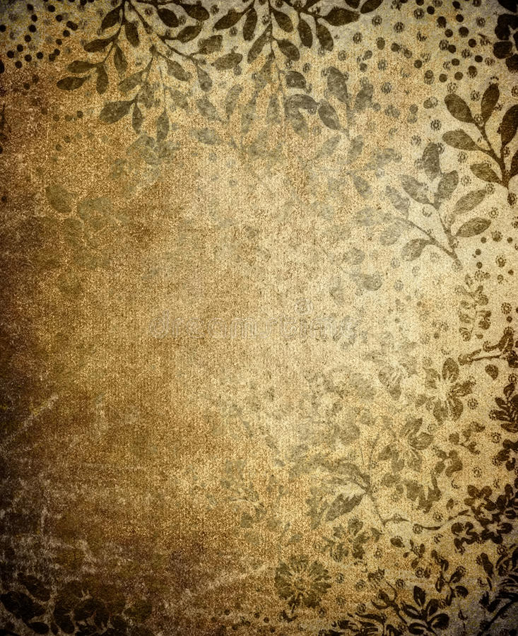 Vintage floral background. Pattern of vintage floral background