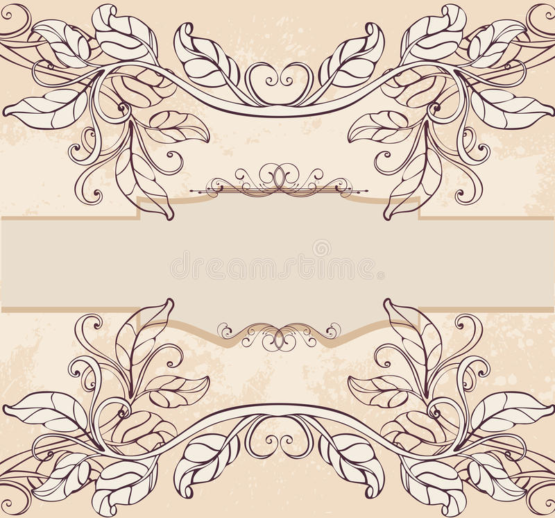 Download Vintage floral background stock vector. Image of flourish - 18332364