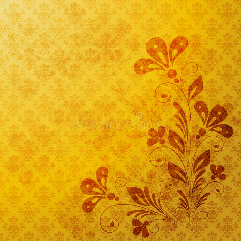 Download Vintage floral  background stock vector. Image of decorative - 18435308