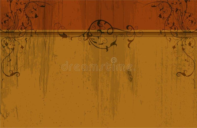 Download Vintage floral background stock illustration. Image of splash - 25182559