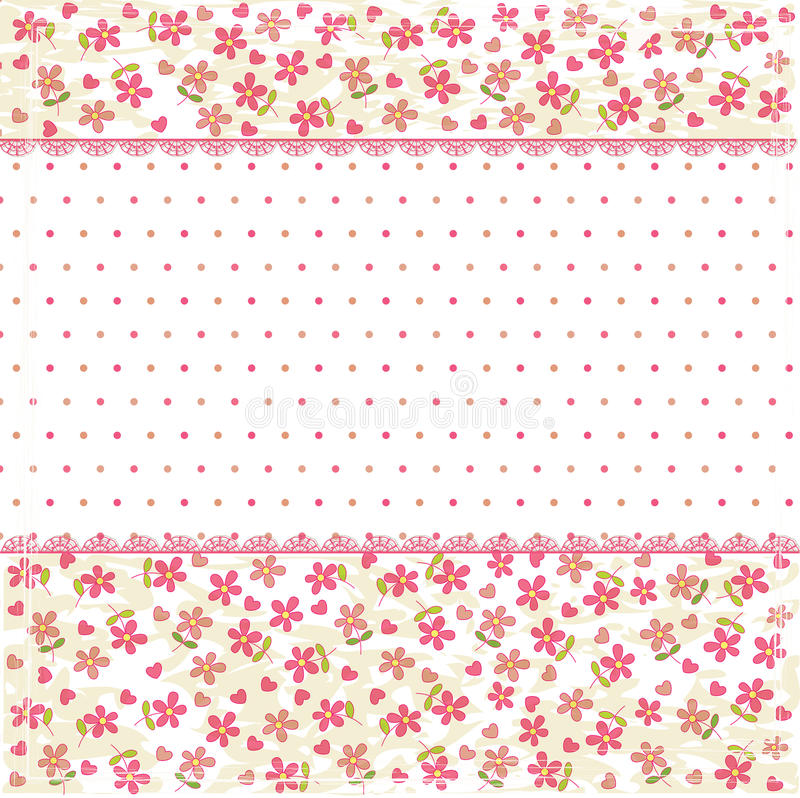 Free Vintage Floral Background Royalty Free Stock Photography - 34989887