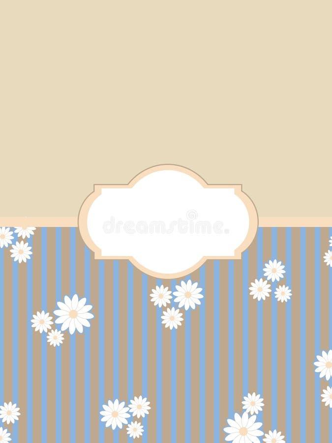 Vintage floral background label vector illustration