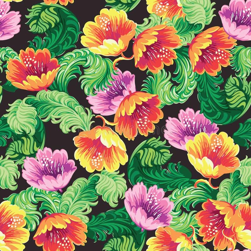 Vintage Floral Background pattern vector illustration