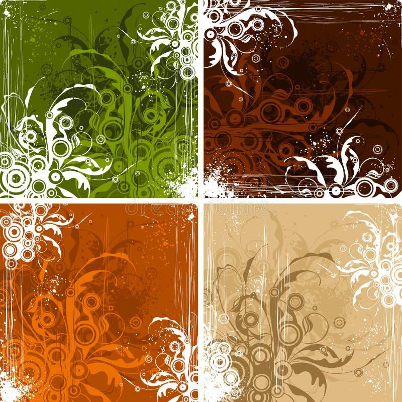 Download Vintage floral backgrounds stock vector. Image of aged - 4055214