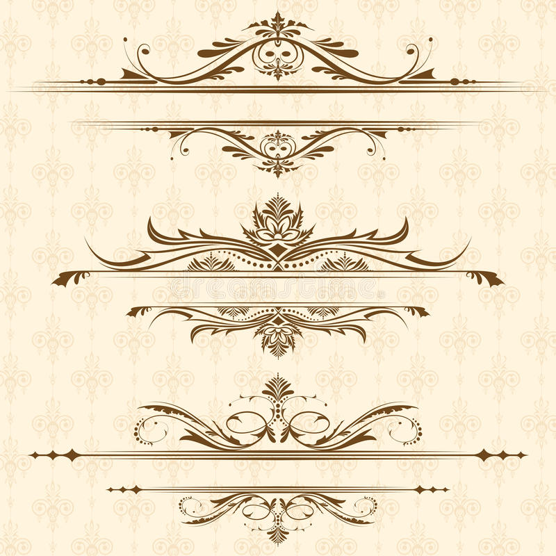 Vintage Floral Border royalty free illustration