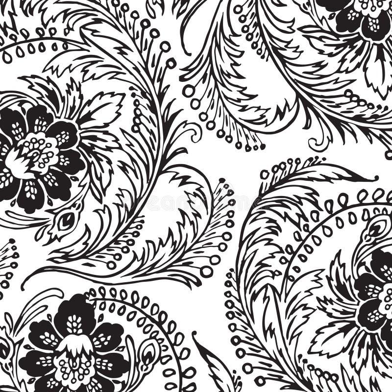 Vintage floral damask scrapbook background. Illustration vector illustration
