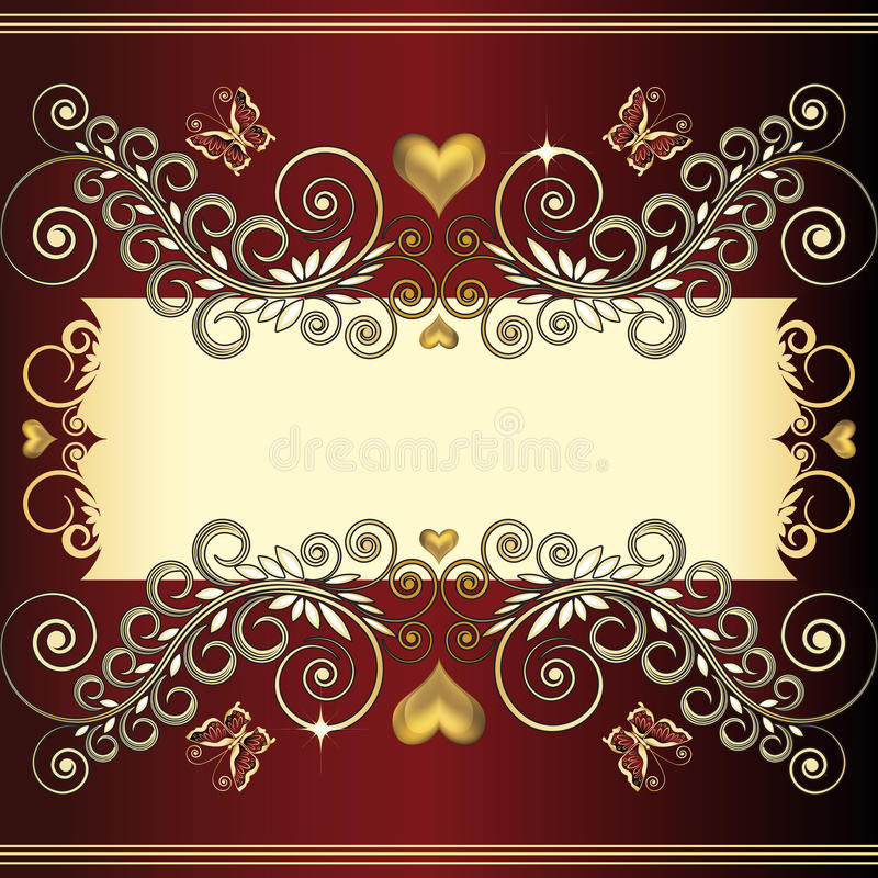 Vintage floral decorative background royalty free stock photography