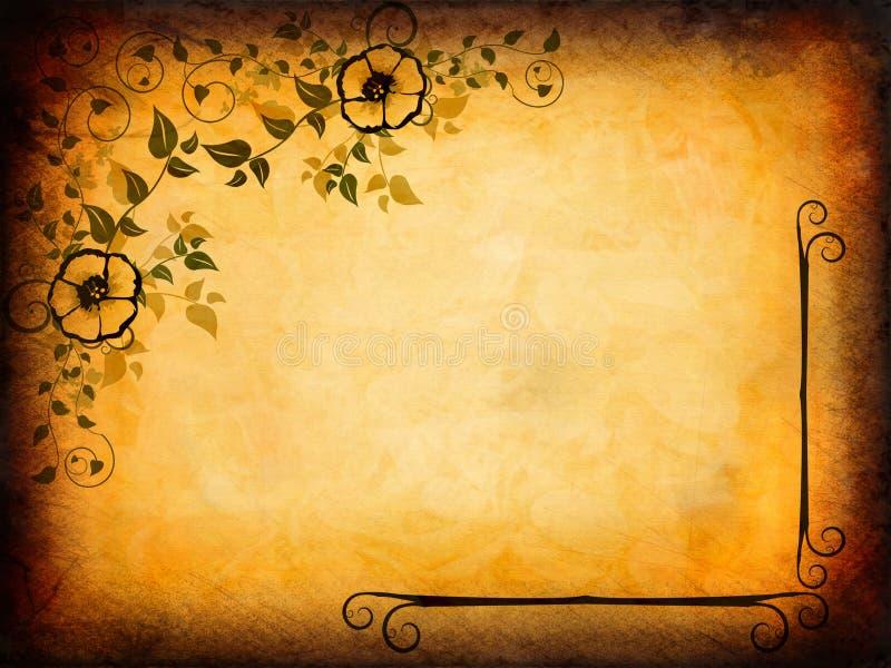 Vintage Floral Design stock illustration