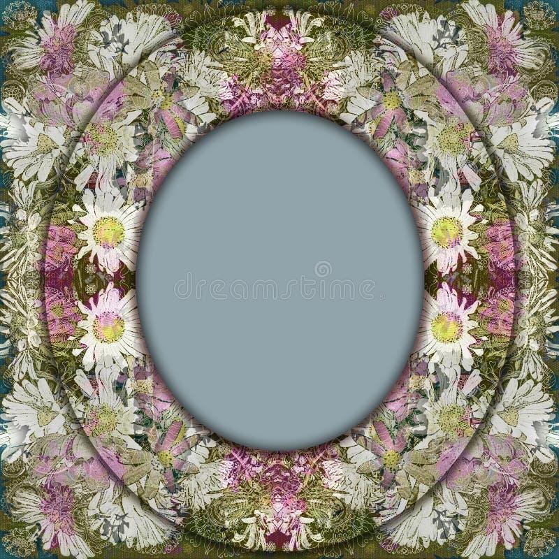 Vintage floral do quadro ilustração stock