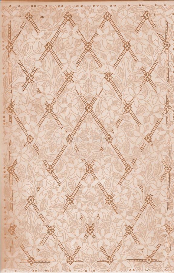 Vintage floral e papel do teste padrão da estrutura do livro fotos de stock royalty free