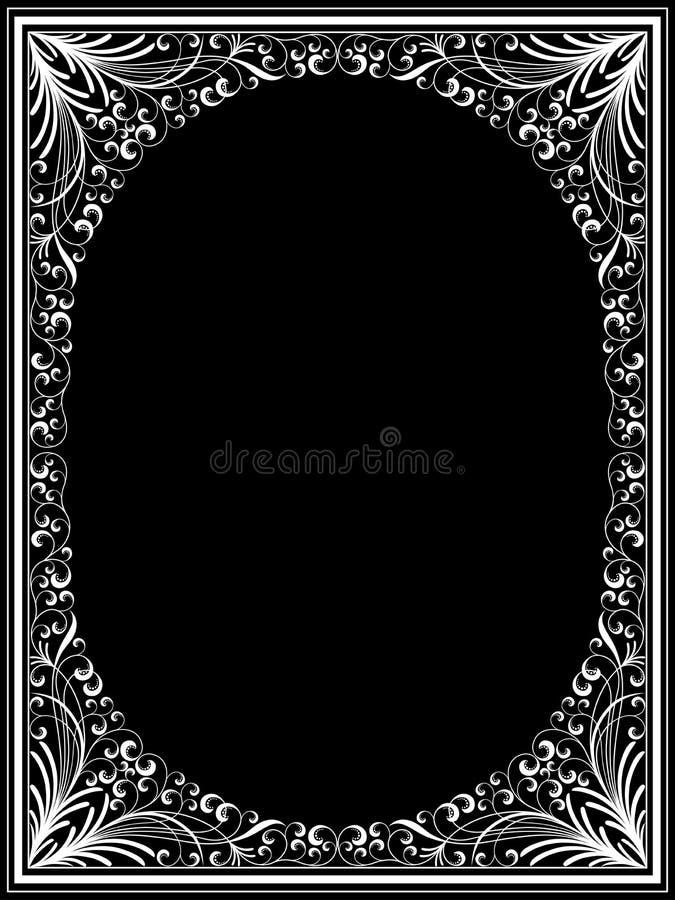 Download Vintage floral frame stock vector. Image of nature, ornament - 21766943