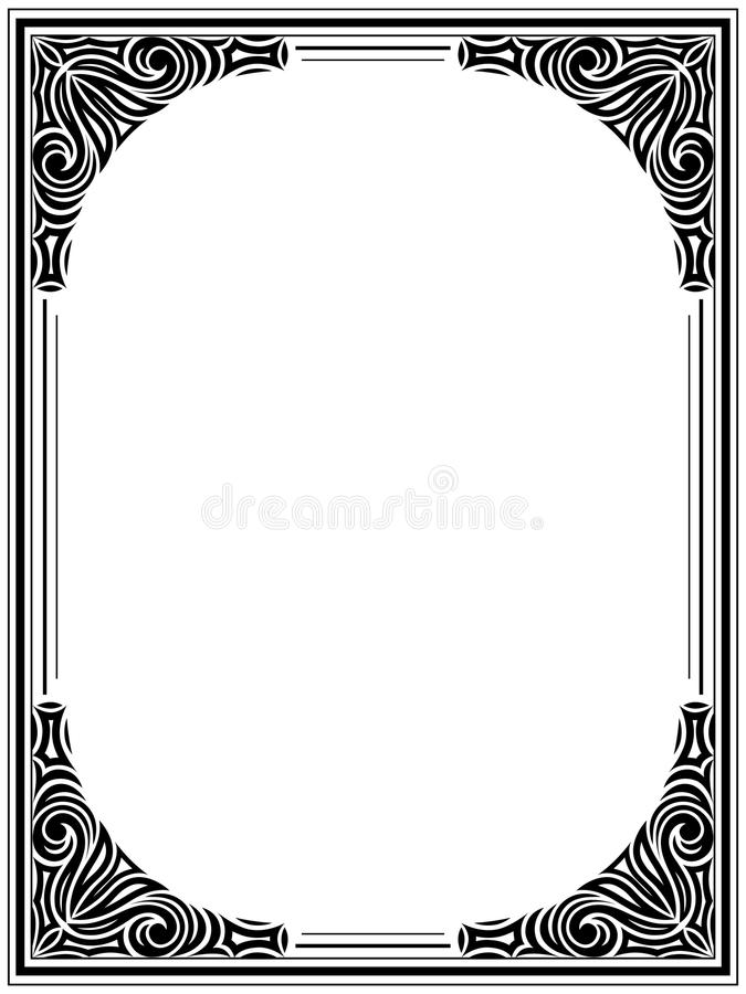 Download Vintage floral frame stock vector. Image of abstract - 22386442