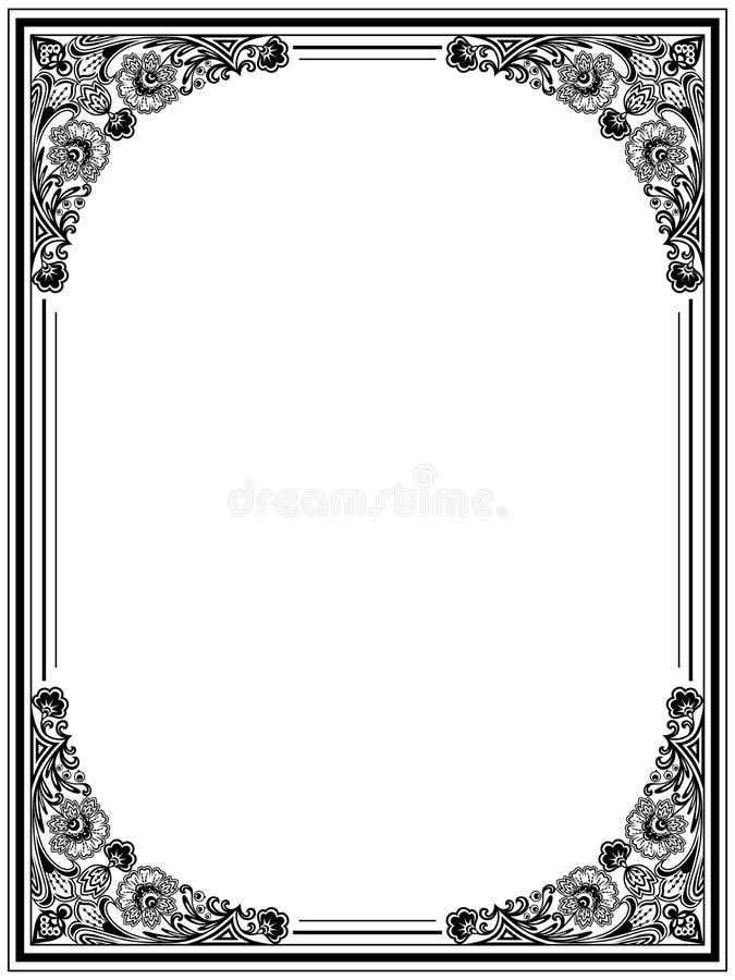 Download Vintage floral frame stock vector. Image of damask, foliage - 22987199