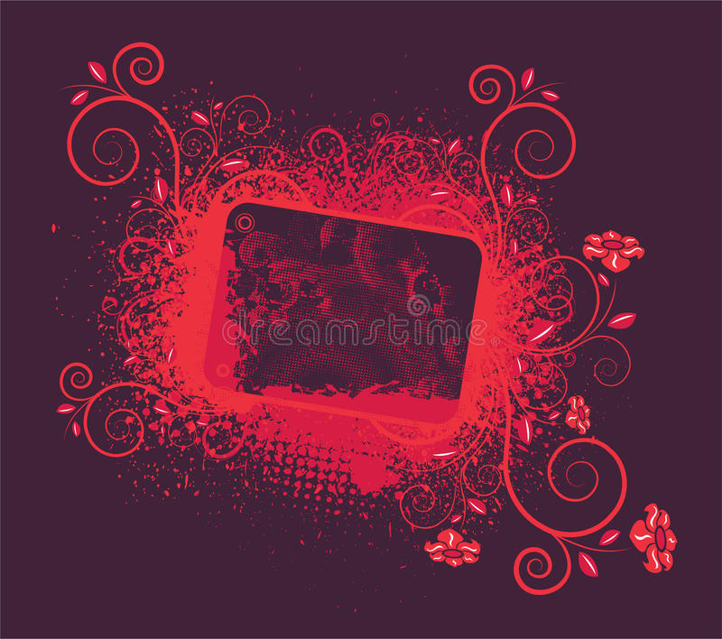 Download Vintage floral frame stock illustration. Image of rusty - 25268108