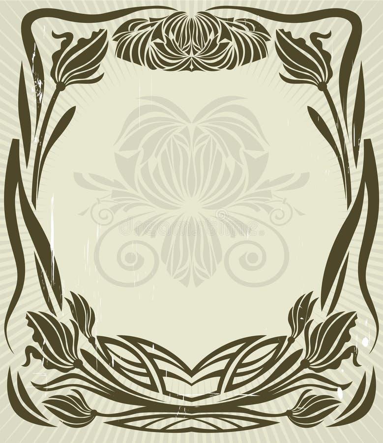 Download Vintage floral frame stock vector. Illustration of silhouette - 6300635