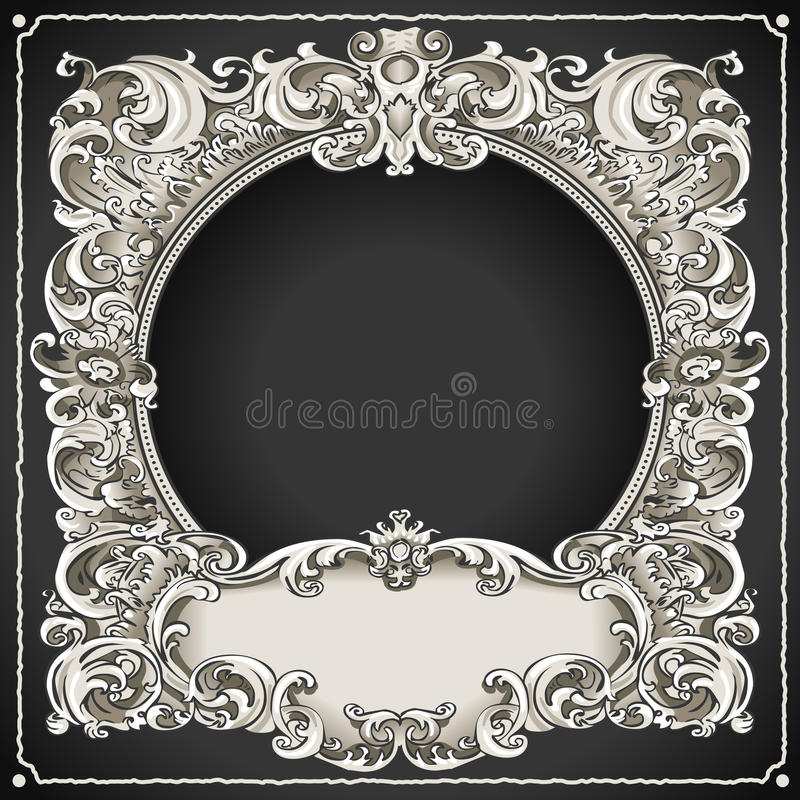 Download Vintage Floral Frame stock image. Image of banner, borders - 34429701