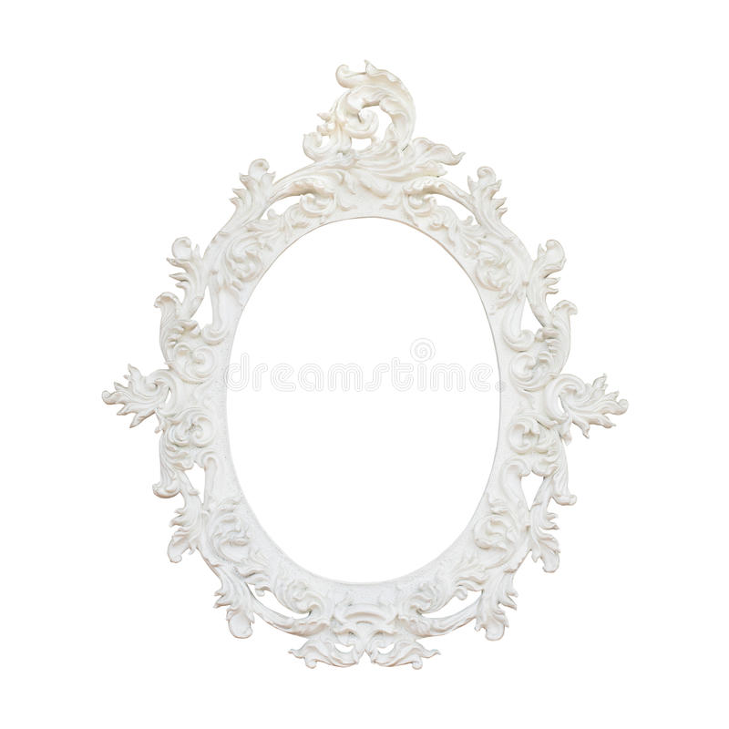 Vintage floral frame isolated on white background. The vintage floral frame isolated on white background stock photos