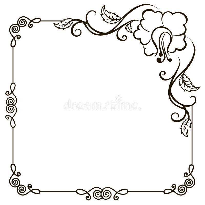 Black Flower Decorative Frame Vectors Material 04 Free: Vintage Floral Frame Stock Vector