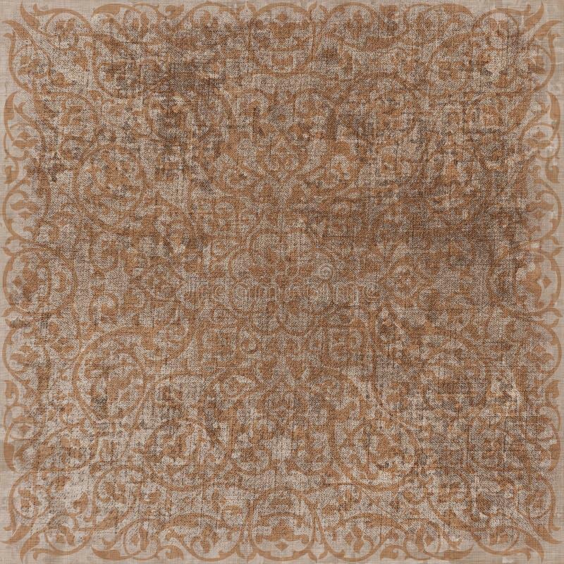 Vintage Floral Grunge Bohemian Tapestry Scrapbook Background Stock Image