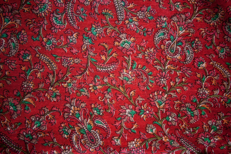 Download Vintage floral India silk stock photo. Image of textile - 29722202