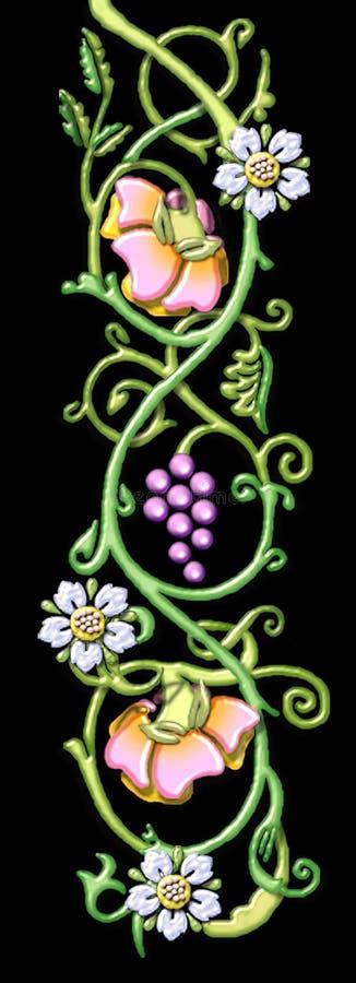 Download Vintage floral motif stock illustration. Illustration of blossom - 1107649