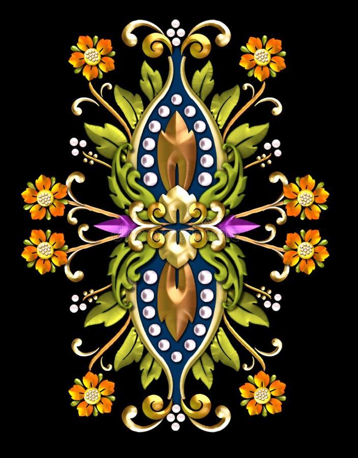vintage floral motif stock illustration image of architectural 506203. Black Bedroom Furniture Sets. Home Design Ideas
