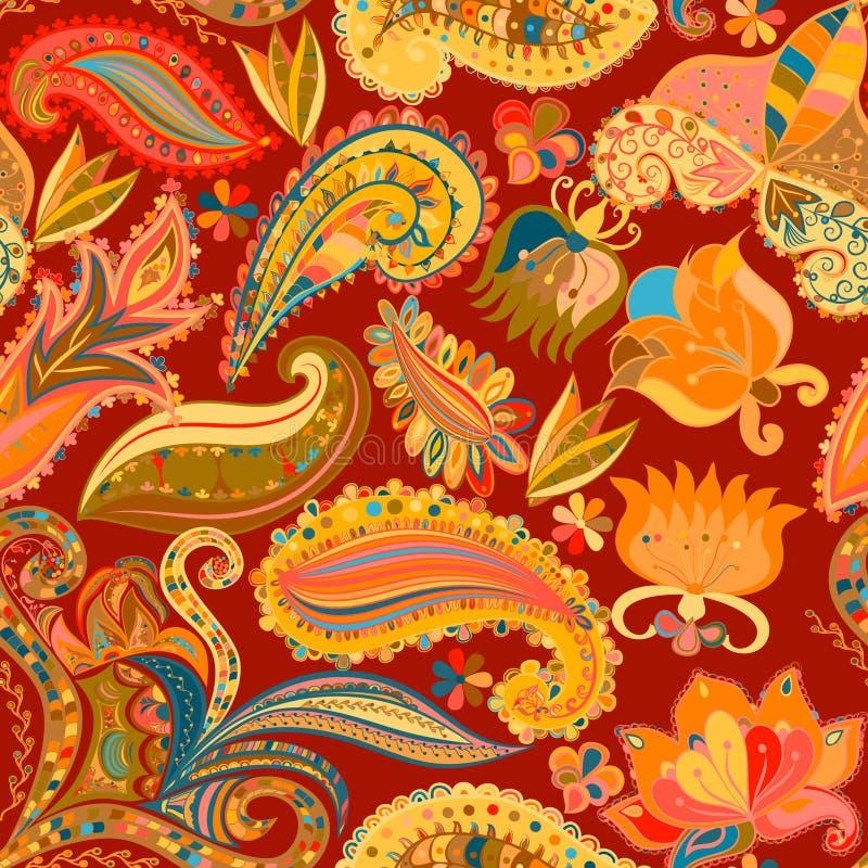 vintage floral motif ethnic seamless background stock vector image 53355160. Black Bedroom Furniture Sets. Home Design Ideas